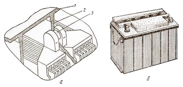 Малообслуживаемая аккумуляторная батарея