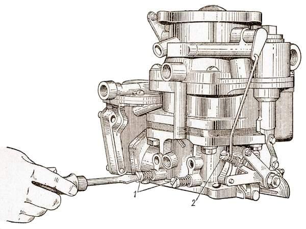 Регулировка карбюратора для работы двигателя на малых оборотах холостого хода