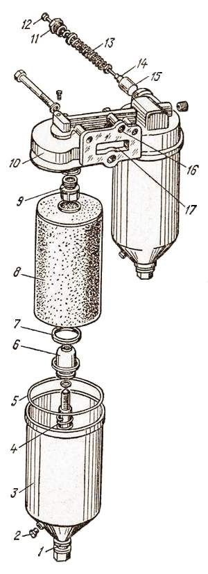 Полнопоточный масляный фильтр автомобиля КамАЗ-5320