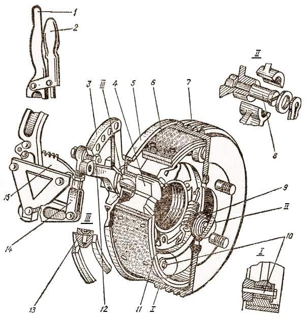 Стояночная тормозная система автомобиля ЗИЛ-130