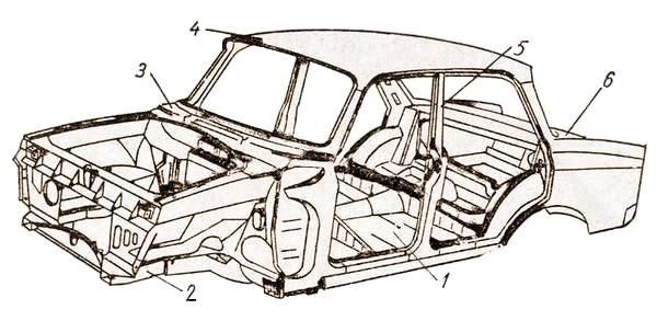 Несущий кузов легкового автомобиля