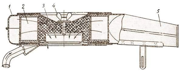 Воздушный фильтр с сухим фильтрующим элементом двигателя автомобиля «Москвич-412»