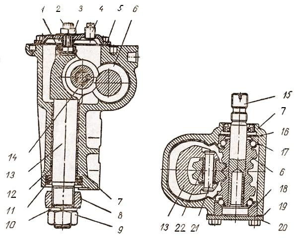 Рулевой механизм автомобиля «Жигули»