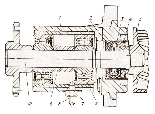 Водяной насос двигателя «Москвич-412»: