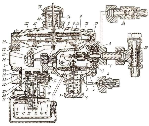 Газовый двухступенчатый редуктор