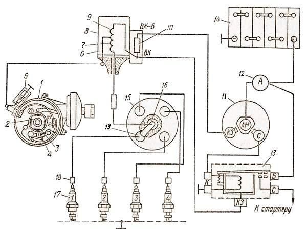 контактно-транзисторная система зажигания газ 53.